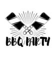 BBQ Steak vintage Label Typography letterpress vector image vector image