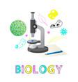 biology subject studies poster vector image vector image