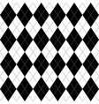 black and white argyle seamless pattern background vector image