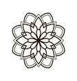 black round floral pattern vector image
