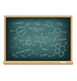 board chemical formula vector image vector image