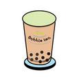bubble tea vector image vector image