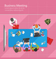 business meeting top view office teamwork flat vector image vector image