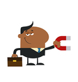 Businessman Attracting Money vector image vector image