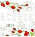 calendar for 2011 with rose