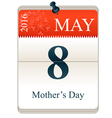 Calendar of mothers day vector image