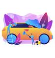 car wash service concept vector image