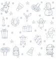 Christmas set with hand draw of doodles vector image vector image
