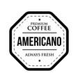 coffee americano vintage stamp vector image vector image