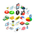 commerce icons set isometric style vector image