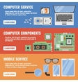 Computer Service Banner Set vector image
