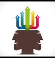 creative info-graphics arrow out from human head c vector image vector image