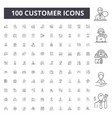 customer line icons signs set outline vector image vector image