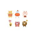 cute bears set adorable animal childish prints vector image