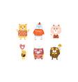 cute bears set adorable animal childish prints vector image vector image