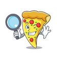 detective pizza slice character cartoon vector image vector image