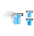 dispersed dot halftone atm machine icon vector image