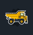dumper big car yellow truck the object circled vector image vector image