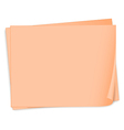 Empty pieces of papers vector image vector image