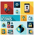energy efficiency icons set vector image vector image