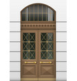 facade with entrance door vector image vector image
