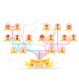 family tree infographic avatars vector image