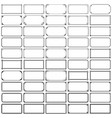fifty rectangle frames set 1 vector image vector image