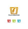 film creator logo template designs vector image vector image