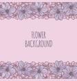 flower background decorative frame vector image vector image