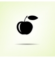 Food icon Apple fruit One black silhouette with vector image