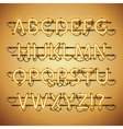 Glowing Neon Golden Alphabet vector image