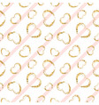gold heart seamless pattern white-pink geometric vector image vector image