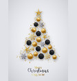 golden and black christmas balls bright vector image vector image
