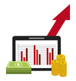 growth icons design vector image vector image