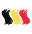 grunge brush stroke with national flag of belgium vector image vector image