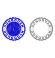 grunge dongguan scratched stamp seals vector image vector image