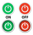 handle switch button on off on white vector image