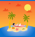 hot tours travel vacation to tropical sea vector image vector image