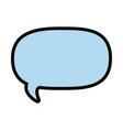 isolated bubble speech vector image vector image