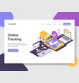 landing page template of online delivery tracking vector image vector image