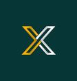 letter x outline creative modern logo vector image vector image