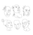 line art beautiful woman perfect for vector image vector image