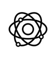 line physics orbit atom chemistry education vector image