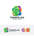 logo of plane transportation vector image
