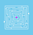 love maze labyrinth vector image