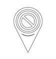 map pin pointer blank ban icon vector image vector image