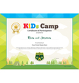 Modern certificate of participation for kids vector image