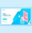 online medical service landing page template vector image vector image