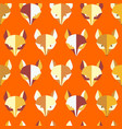 paper foxes orange seamless pattern vector image