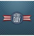 Patriot Day memorial realistic Badge vector image vector image